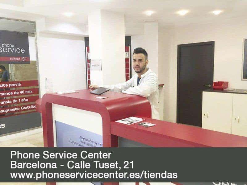 Reparacion de moviles y tablets Phone Service Center Calle Tuset 21 Barcelona