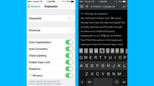 Truco 2 para iOS 8Usa teclados de terceros en tu iPhone