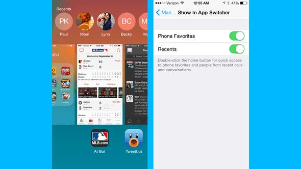 Truco 3 para iOS 8 Gestión rápida de contactos