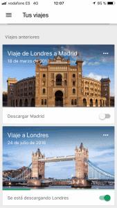 oragniza tu viaje con google trip