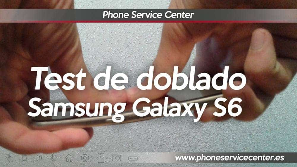 test de doblado del galaxy S6 Edge