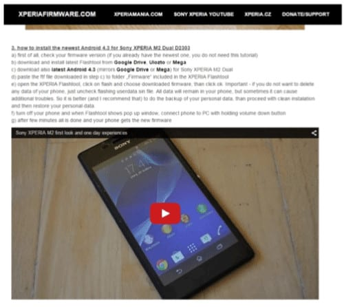 Install Android Sony Xperia