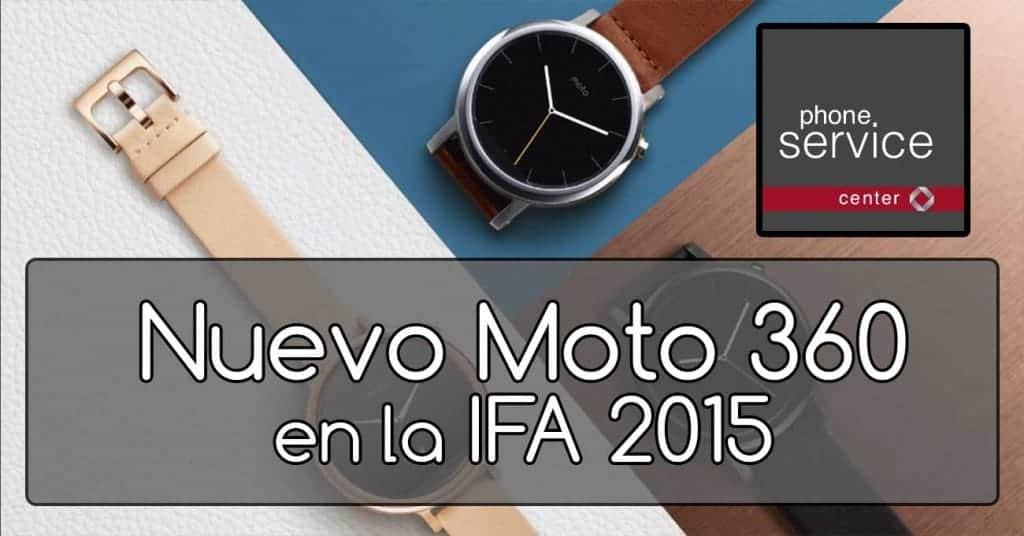 Moto 360 en IFA 2015
