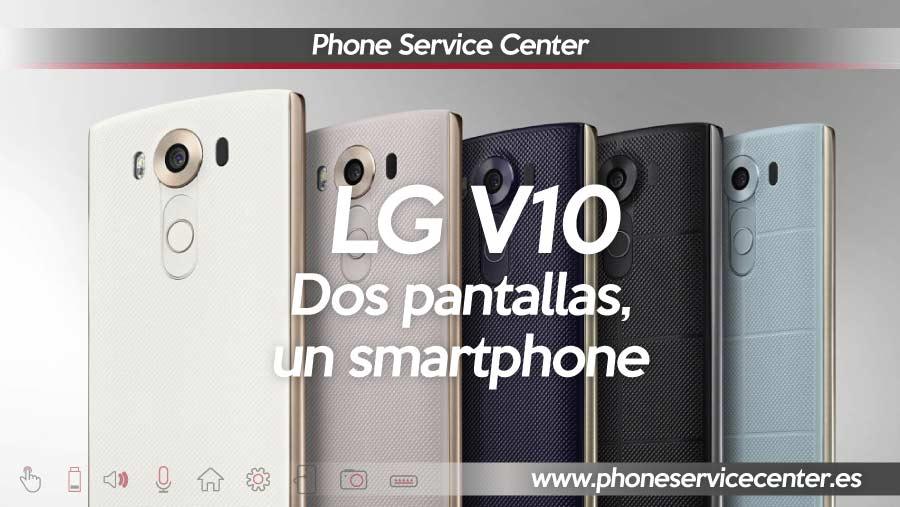 LG V10 dos pantallas un smartphone