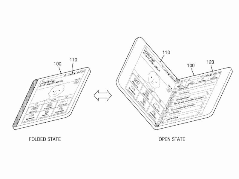 Las pantallas curvas de Samsung patente pantalla plegable tipo libro