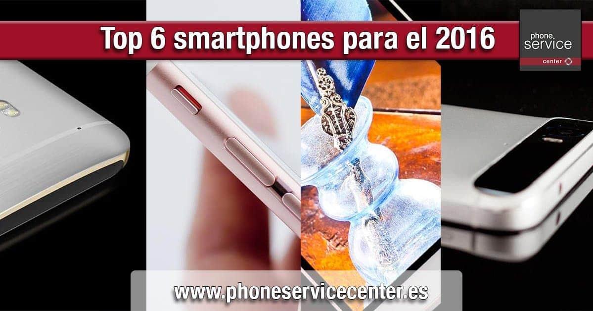 Top 6 smartphones para el 2016
