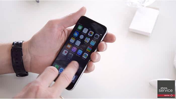 Tras cambiar la bateria del iphone 6 Comprobamos que funciona todo correctamente