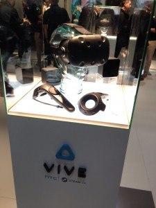 MWC16 HTC VIVE gafas de realidad aumentada para videojuegos