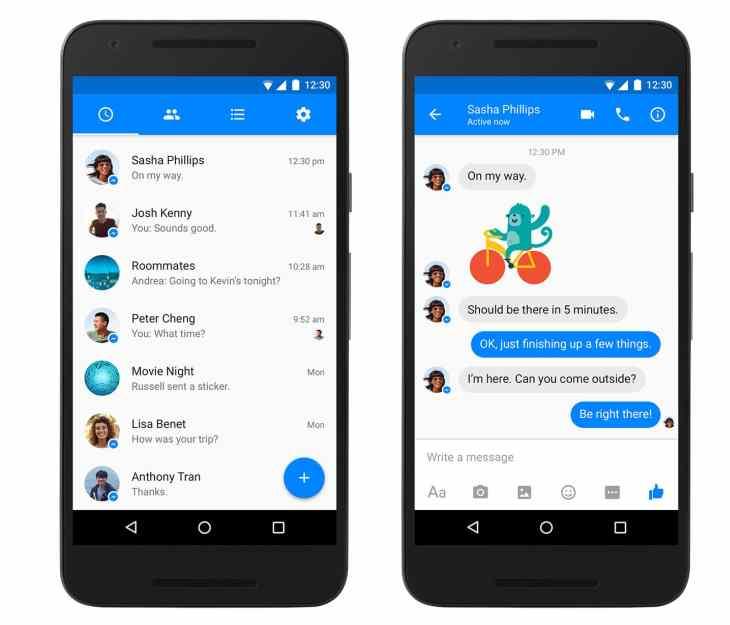 Nueva versión de Facebook Messenger