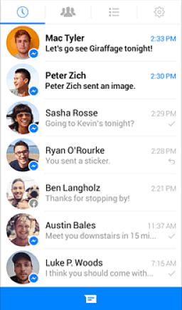 Antigua versión de Facebook Messenger