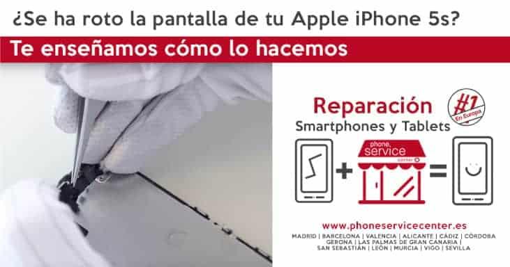 iPhone 5S pantalla rota ¿Cómo la reparamos en Phone Service Center?