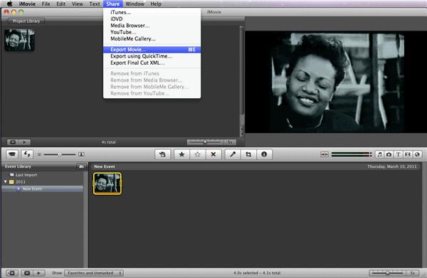 Exportar iMovie