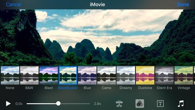 Filtro iMovie