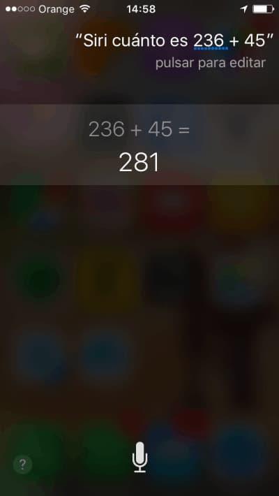 Siri calcula