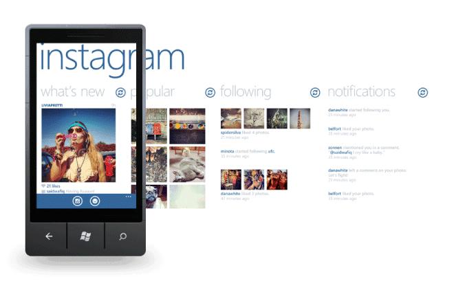Instagram para Windows Mobile