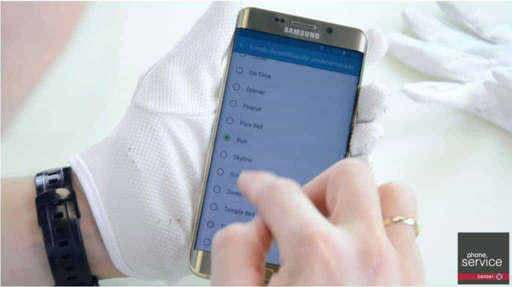 Comprobamos que el altavoz del Samsung Galaxy S6 Edge funciona bien