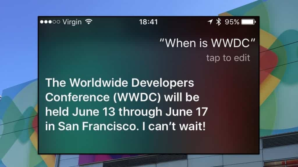 Siri wwdc