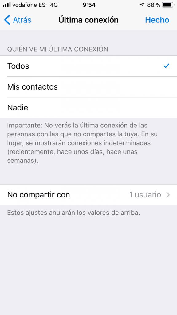 elige quien puede ver tu conexion en telegram
