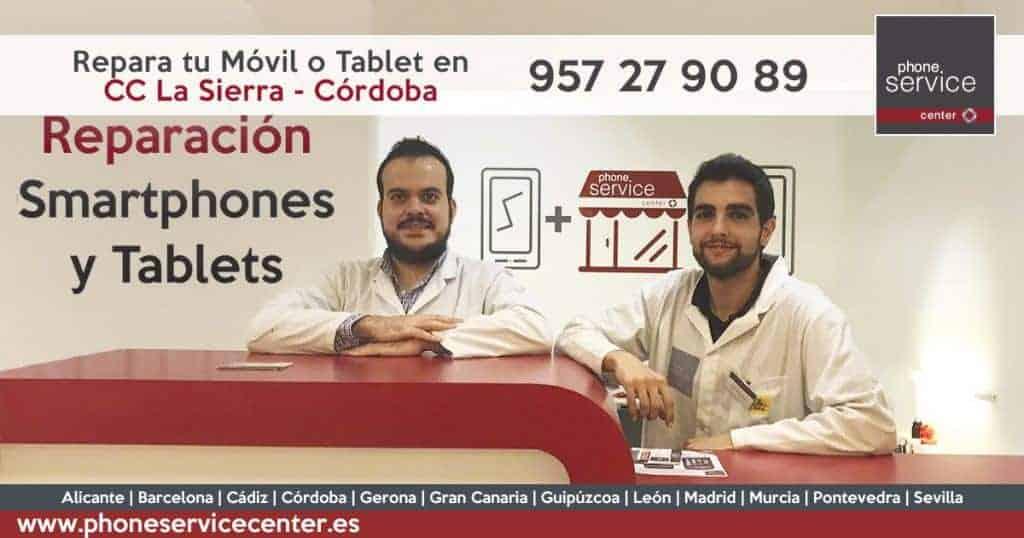 Reparación de móviles en Córdoba Phone Service Center CC La Sierra