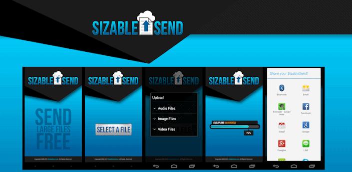 Compartir archivos grandes con SizableSend