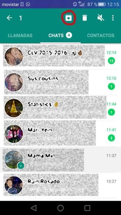 Android ocultar conversación