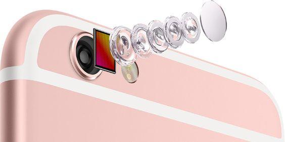 Cámara de iPhone 6S rosa