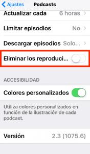 ahorrar espacio en iphone borrando los podscast