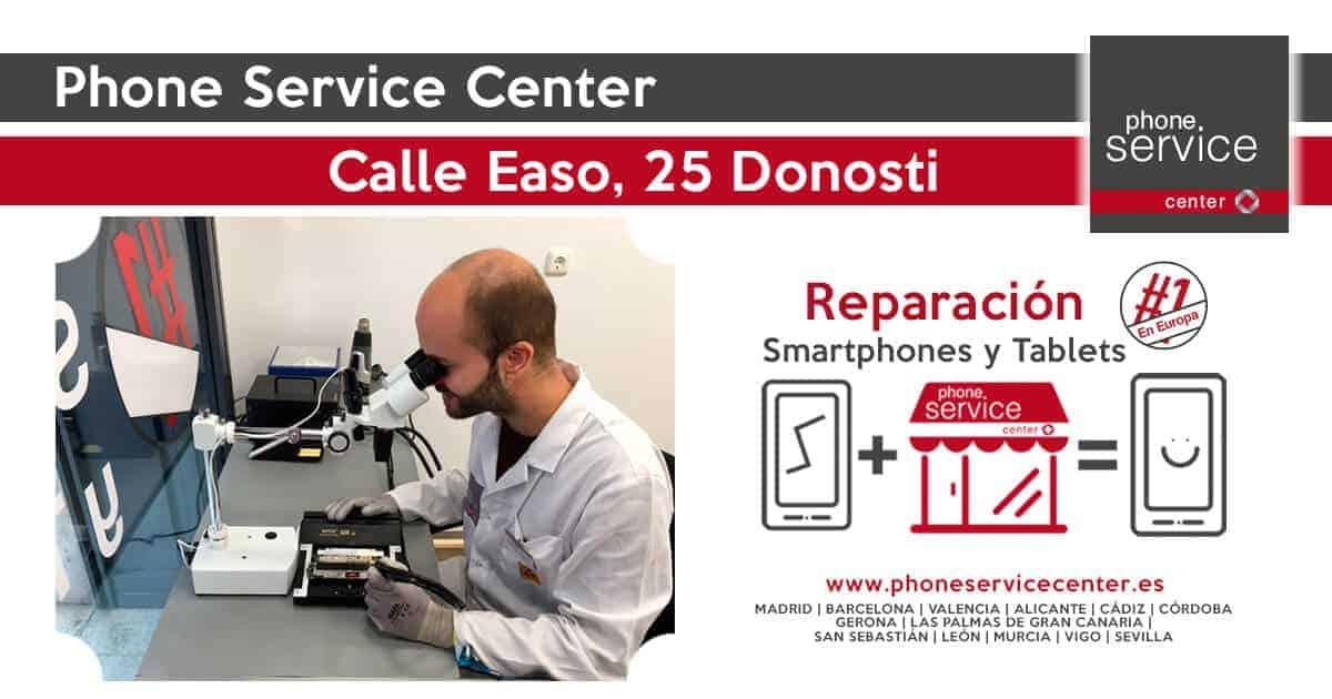 Reparacion de moviles en San Sebastian Donosti Phone Service Center Calle Easo 25