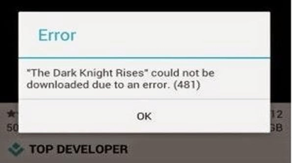 error-481-play-store