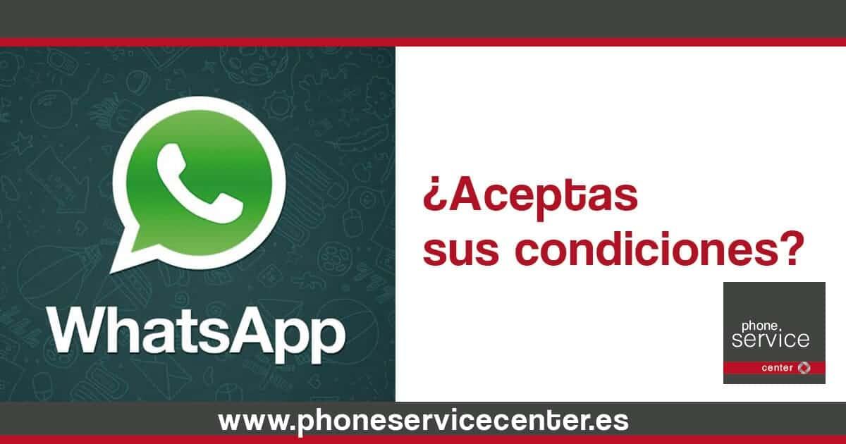 Acepta las condiciones de Whatsapp