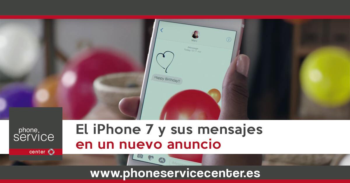 El iPhone 7 y sus mensajes en un nuevo anuncio