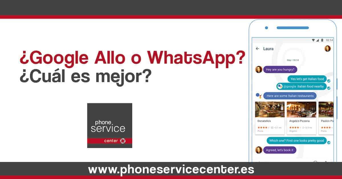 Google Allo o WhatsApp