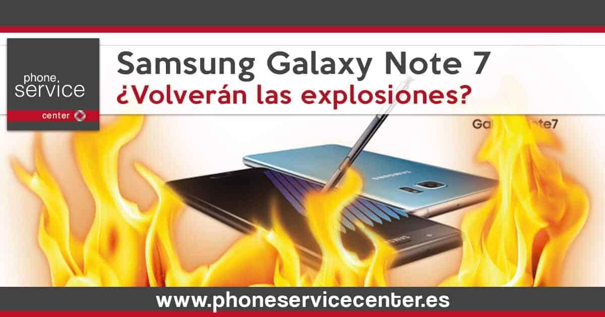 Los Samsung Galaxy Note 7 reemplazados tienen problemas