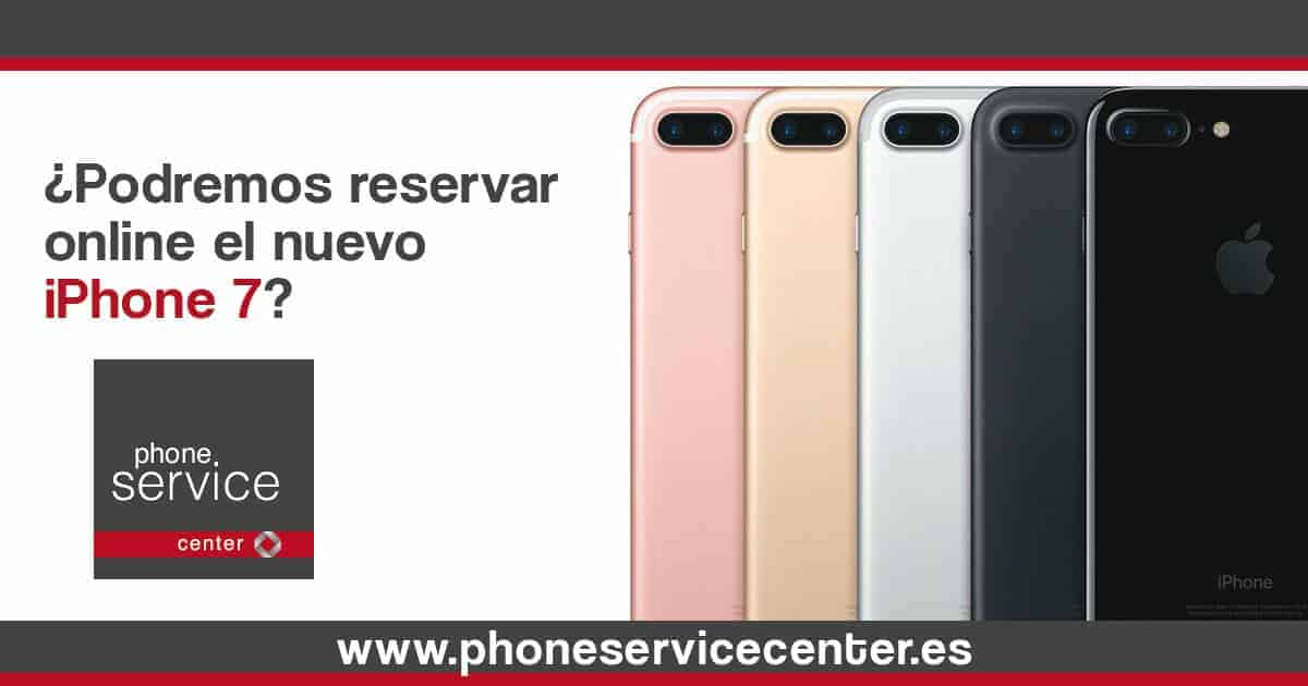 Podremos reservar online el iPhone 7