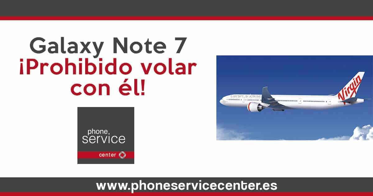 Prohibido usar durante el vuelo el Samsung Galaxy Note 7
