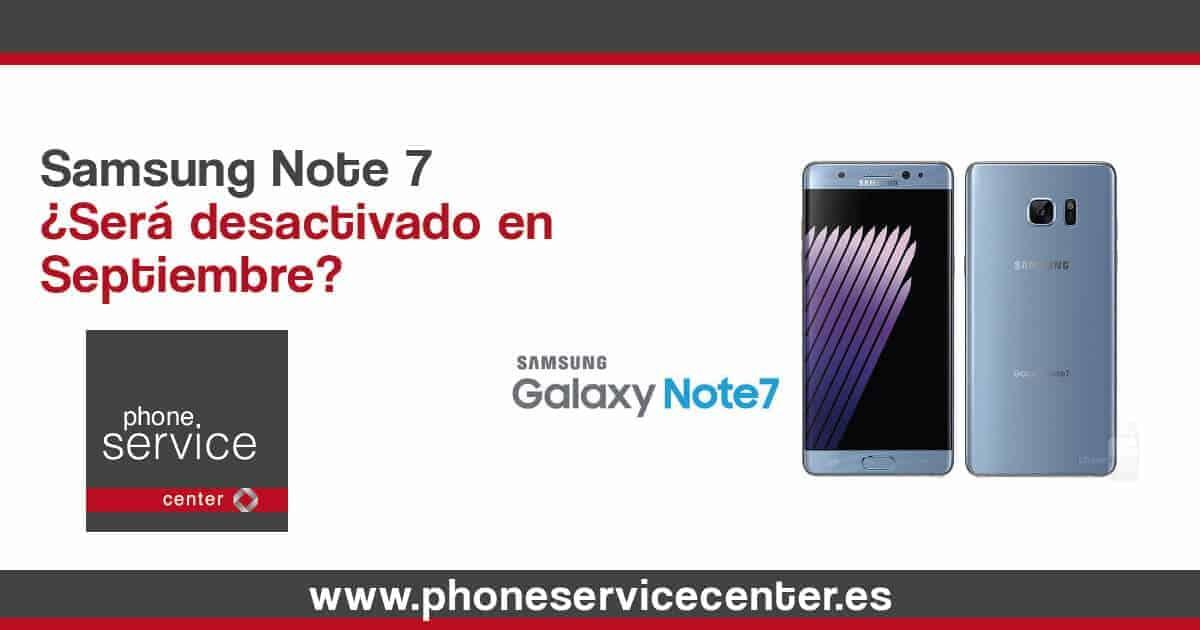 Samsung note 7 septiembre
