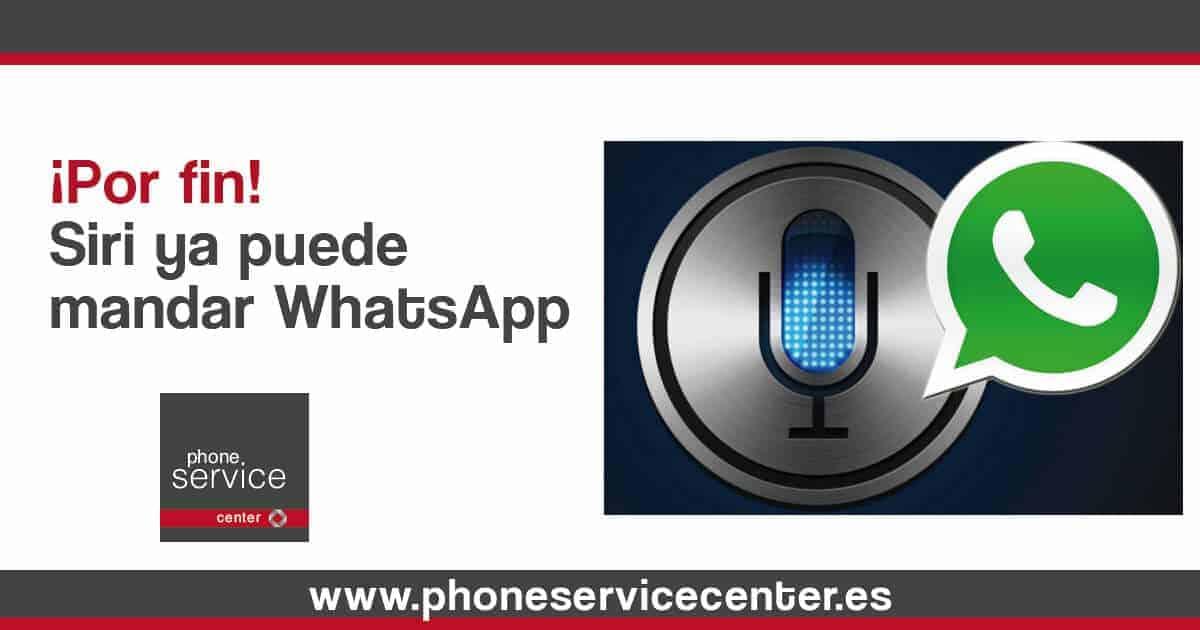 WhatsApp y Siri