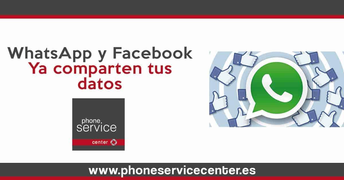 WhatsApp ya comparte tus datos con Facebook