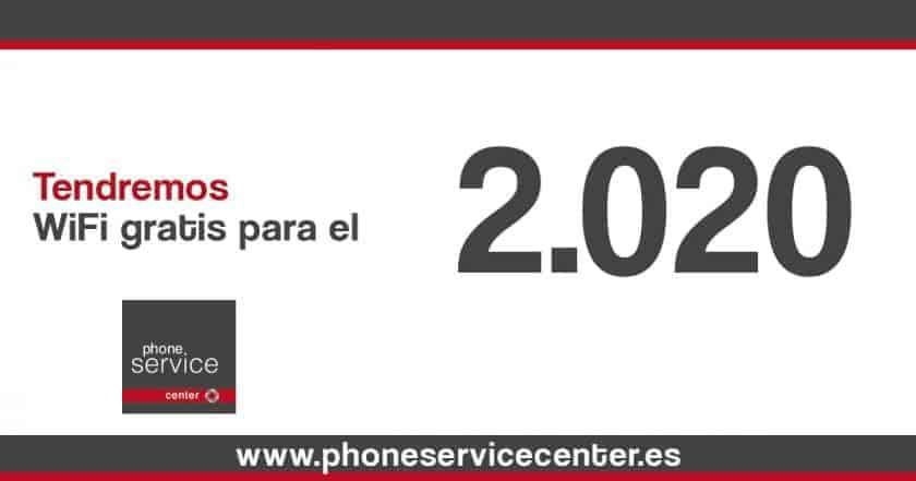 Wifi gratis para el 2020