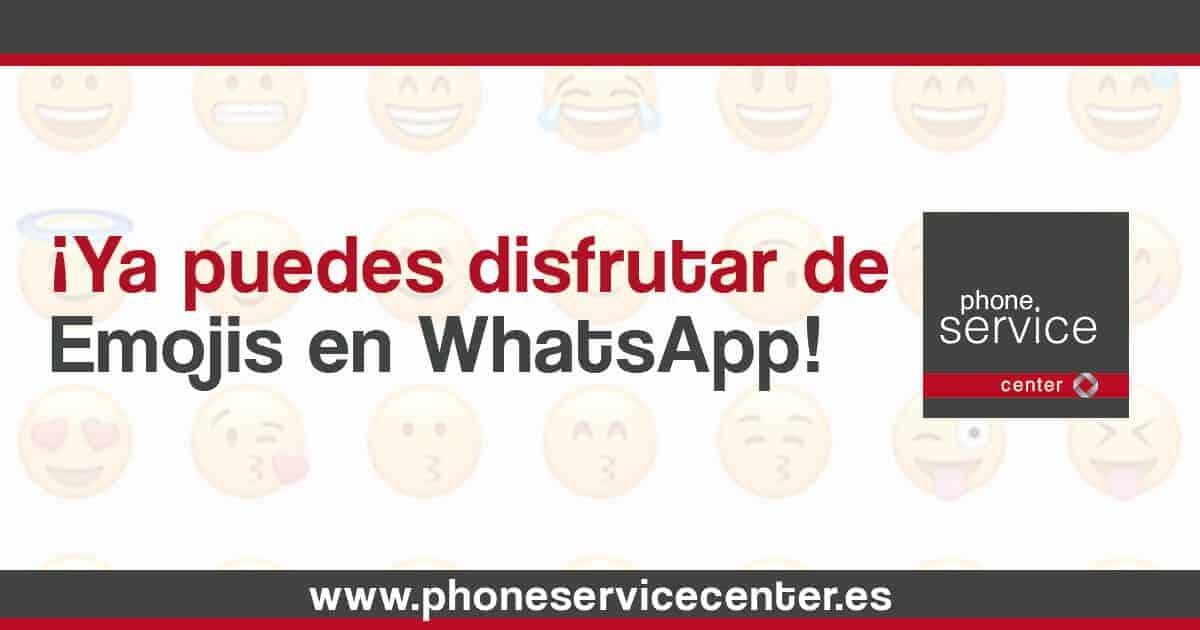 Ya puedes disfrutar de los nuevos emojis de WhatsApp