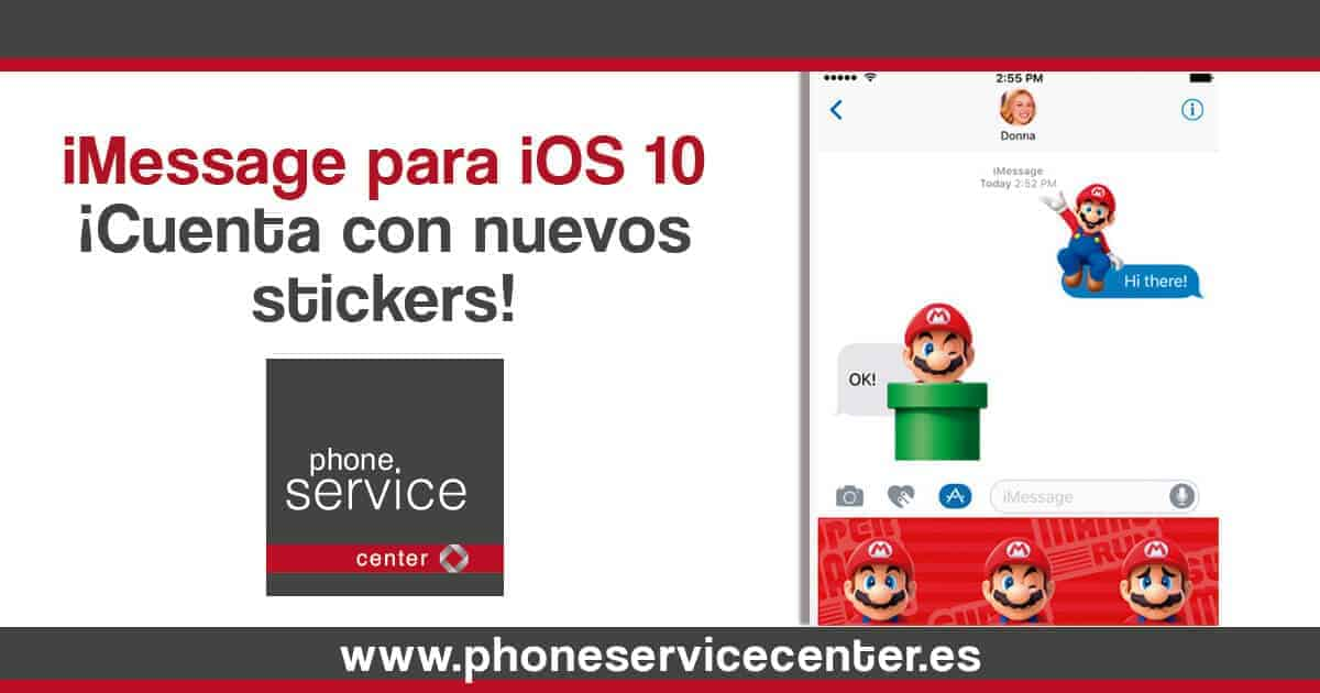 iMessage cuenta con nuevos stickers en iOS 10