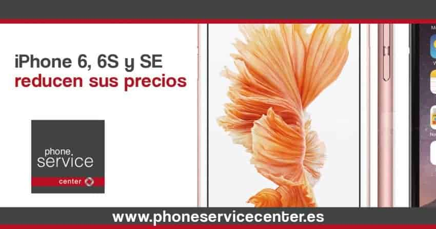 iPhone 6, 6s y SE reducen sus precios tras la salida de iPhone 7