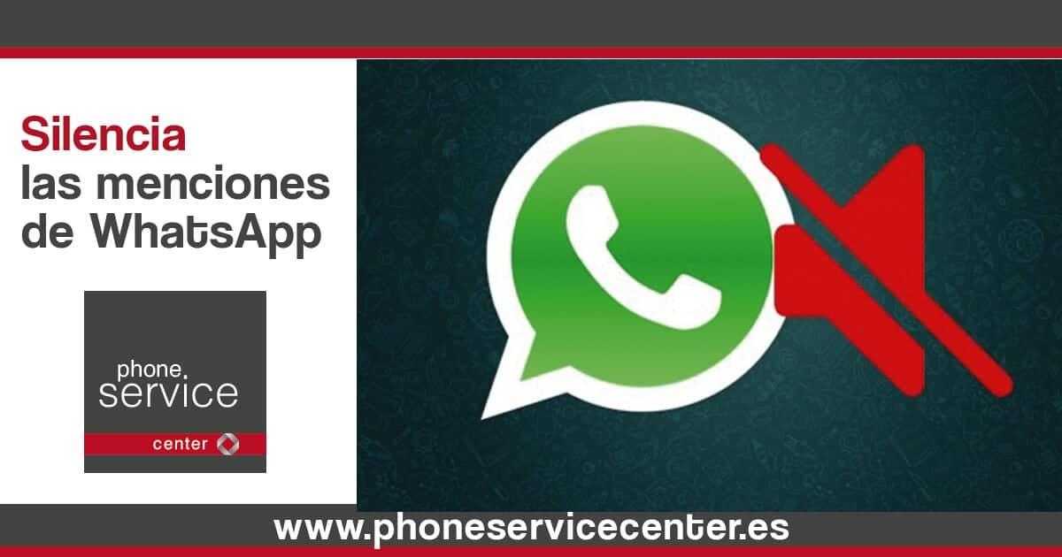 truco para silenciar las menciones de WhatsApp
