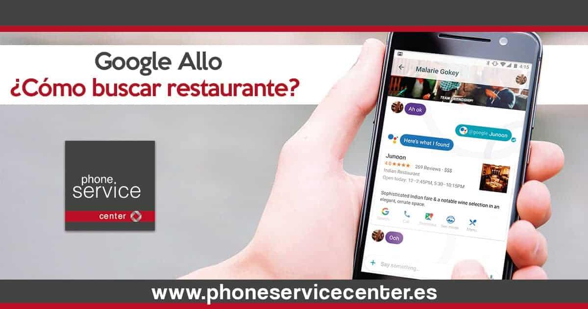 Como buscar un restaurante con Google Allo