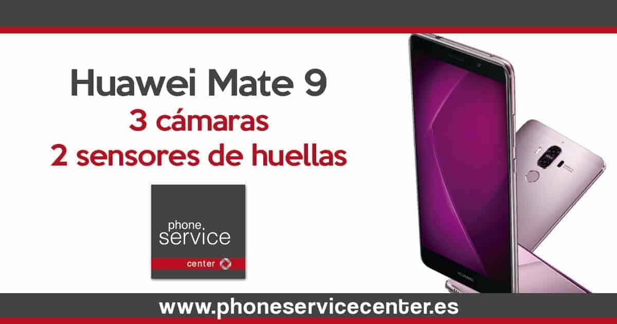 El Huawei Mate 9 tendra 3 camaras y 2 sensores de huellas