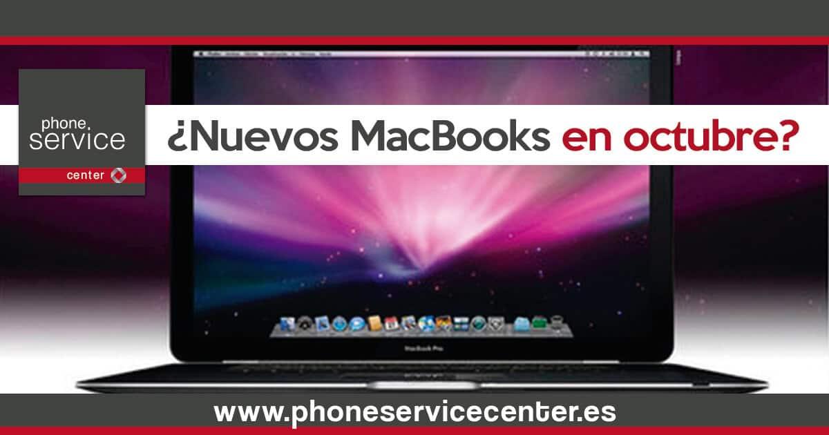 Nuevos MacBooks el 27 de octubre