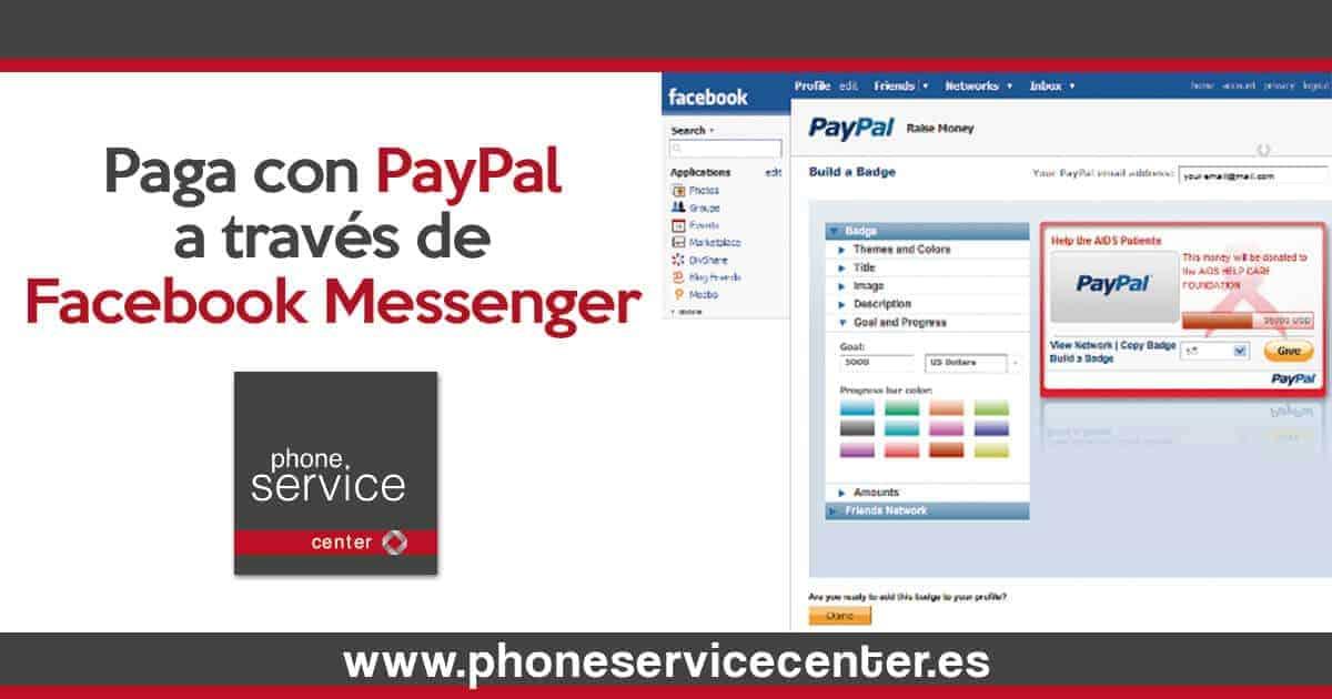 Paga con PayPal a traves de Facebook Messenger