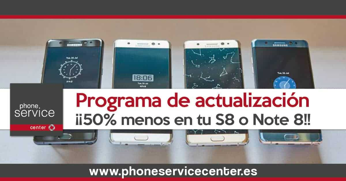 Programa de actualizacion de Samsung