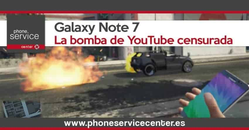 Samsung censuro a YouTube por su Galaxy Note 7