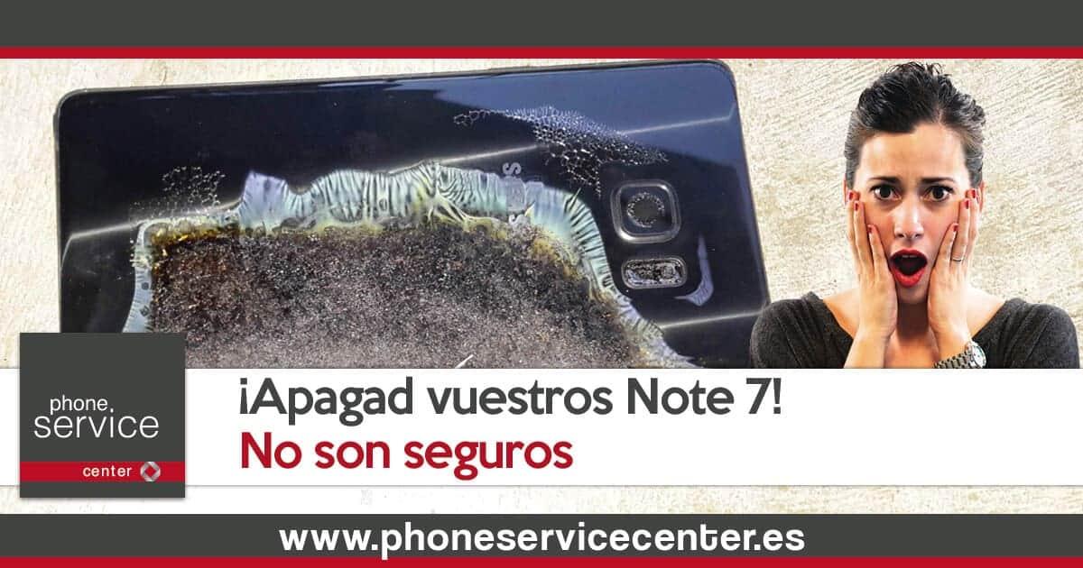 Samsung pide que apaguen los Note 7